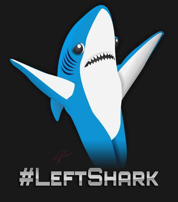 Halftime Left Shark Dancing White Adult Tank Top