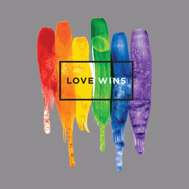 Watercolor Love Wins Rainbow (LGBT)