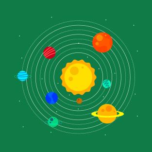 Solar System Design t-shirts