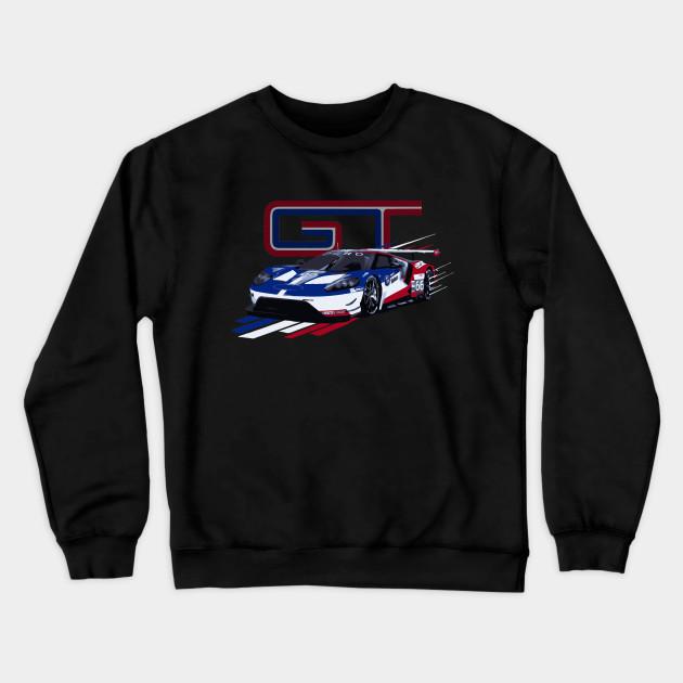 Ford GT Le Mans Race Car 2016 Hooded Sweatshirt
