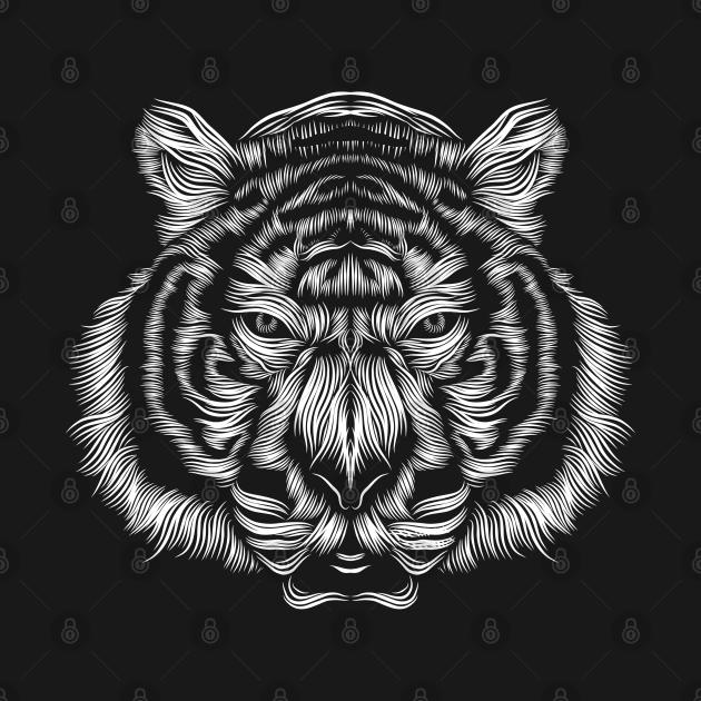 a tiger silhouette
