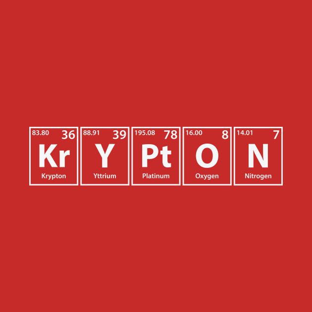 Krypton elements spelling krypton t shirt teepublic 1311709 1 urtaz Choice Image