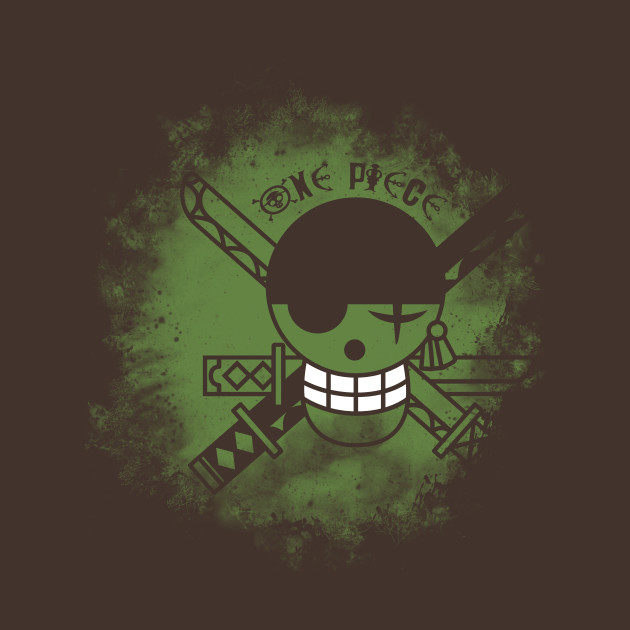 One piece logo zoro anime t shirt manga t shirt teepublic - One piece logo zoro ...