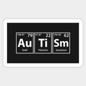 Autism stickers teepublic autism au ti sm periodic elements spelling sticker urtaz Gallery