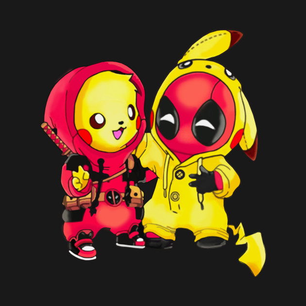 88e6ac94 pikachu Pokemon and Deadpool Pikapool T-shirt - Deadpool Deadpool2 ...
