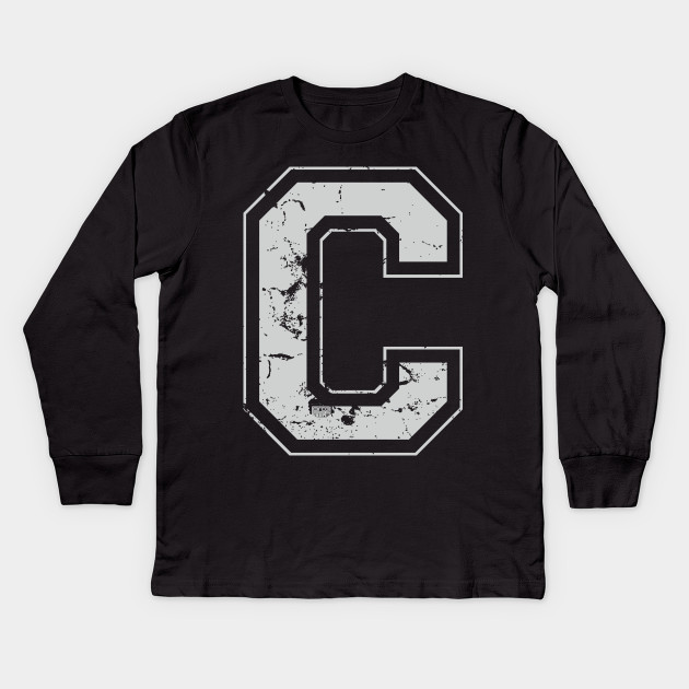 Initial Letter C Gray Jersey Sports Athletic Player