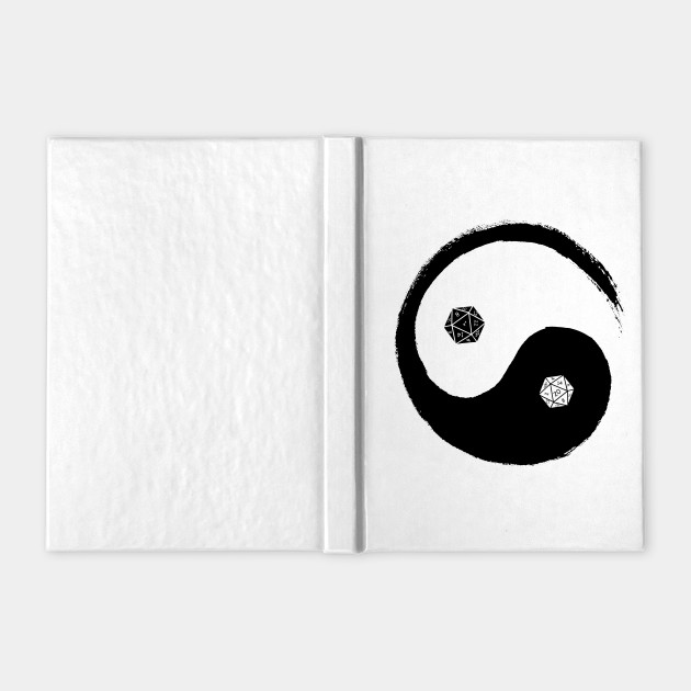 D&D Dungeons and Dragons Yin Yang