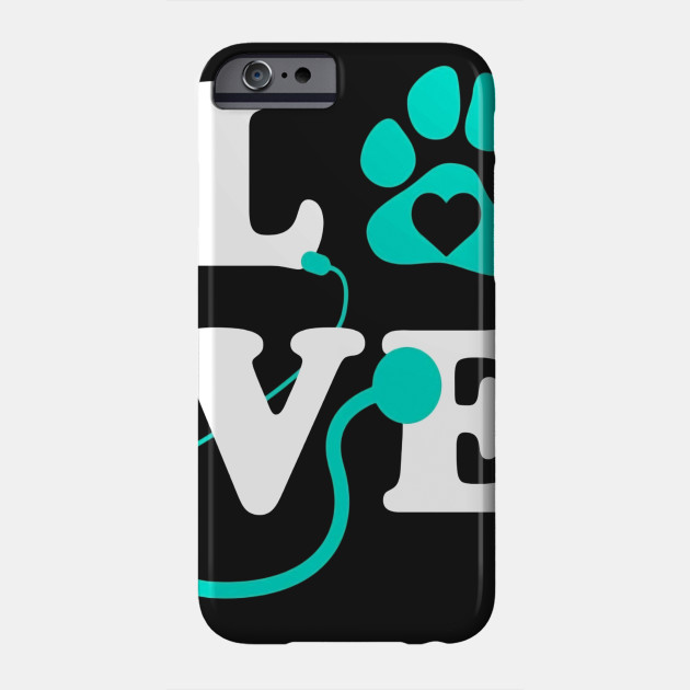 LOVE Veterinary Medicine Shirt, Cute Letters Pawprint Gift