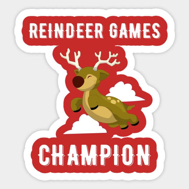 Reindeer Games Champion Christmas Rudolph Christmas Sticker Teepublic Uk