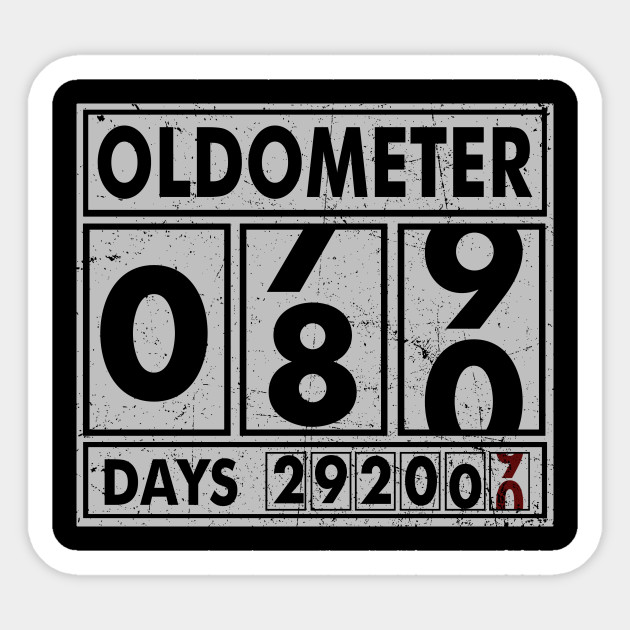 OLDOMETER 80 Years Old Made In 1938 80th Birthday Sticker