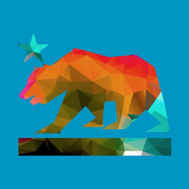 California State Bear (fractal colors)