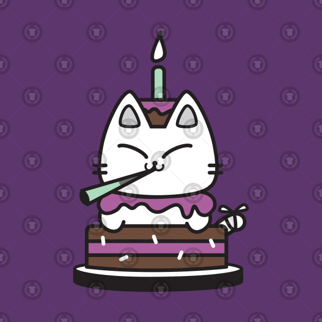Birthday Cake Cat