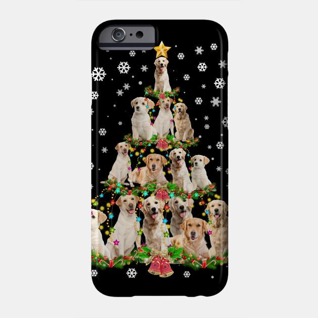 Labrador Retriever Christmas Tree Merry Christmas Light Gift Phone Case