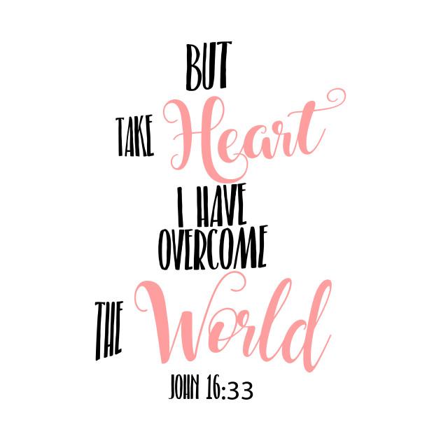 John 16:33 Hand Writing Bible Verse