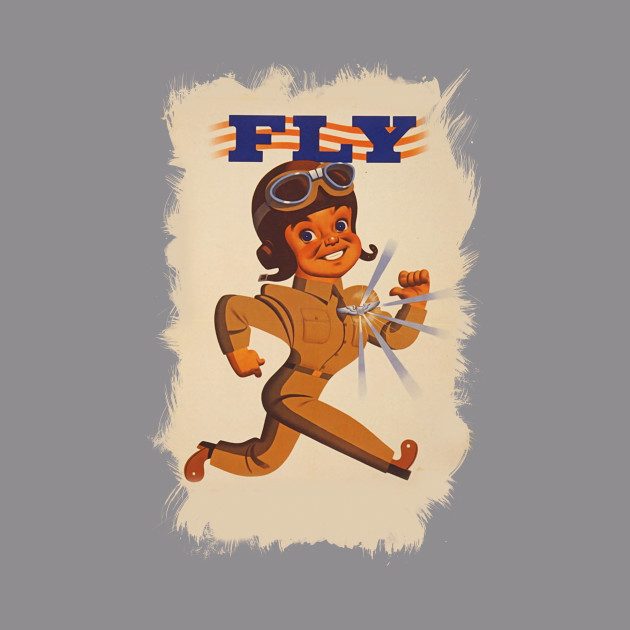 ✪ FLY ✪ WWII US Air Force promotional vintage poster ✪ Retouched Fan Art