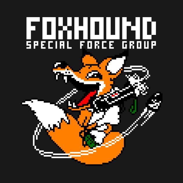 FOXHOUND Pixel Art MGS Logo 2
