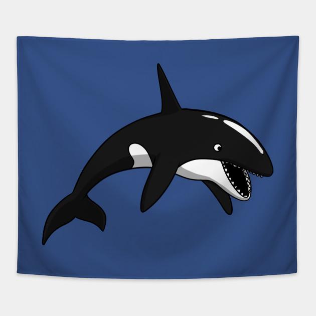 Orca Killer Whale Funny Ocean Creature Cartoon