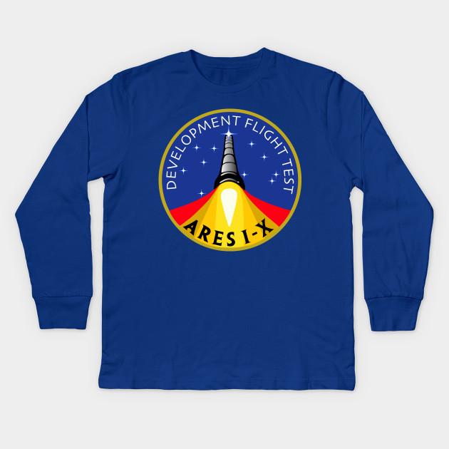 3c8451ce6f9ef9 NASA Development flight test Ares mission I - X logo Kids Long Sleeve T- Shirt