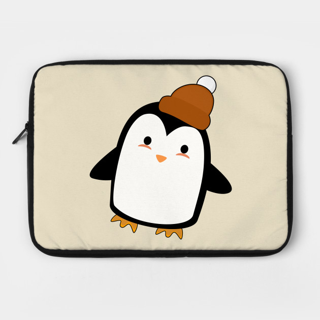 222701bf8a5 Kawaii Penguin with a beanie - Penguin - Laptop Case