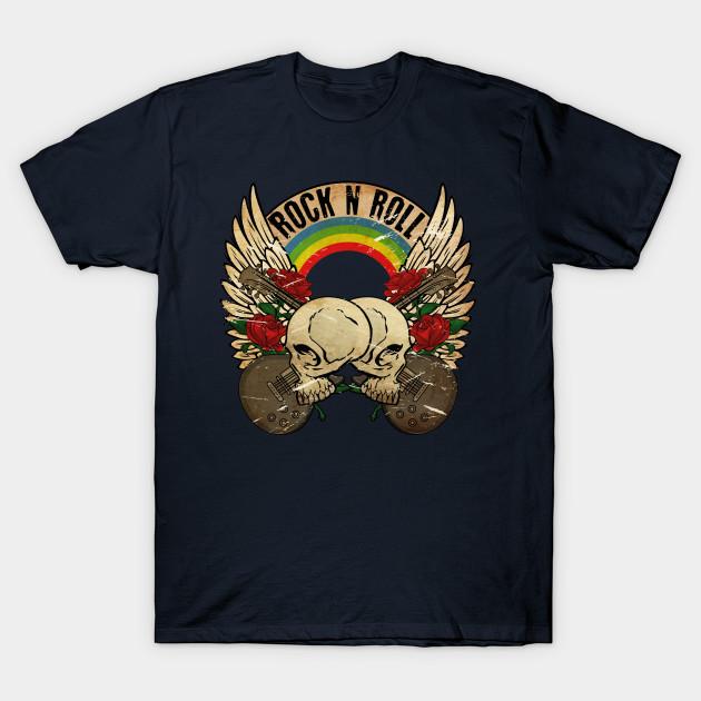 Skull Rock Vintage - Skull - T-Shirt | TeePublic