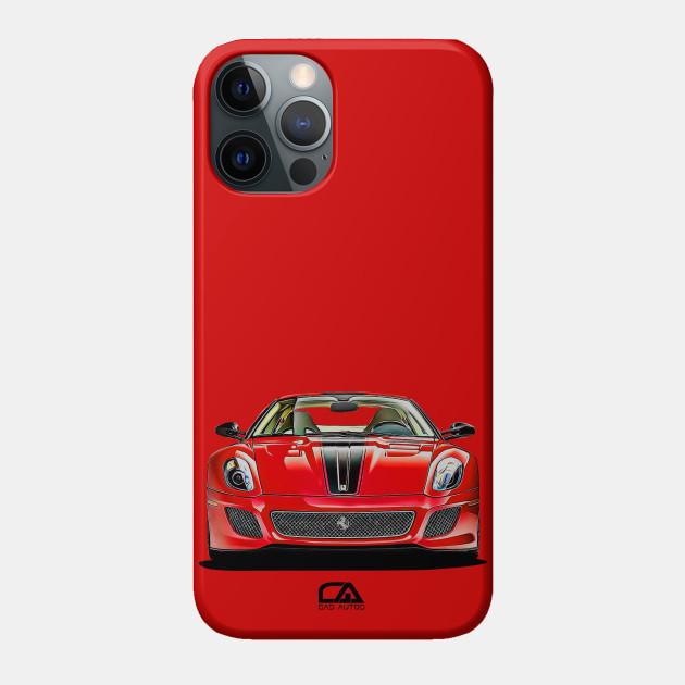 Ferrari 599 Gto Illustration Ferrari Phone Case Teepublic