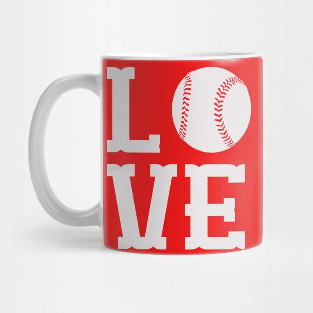 3d844d974 Cool Baseball Love T shirt Design - Baseballl Love - Mug   TeePublic