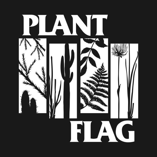 Plant Flag - White Print