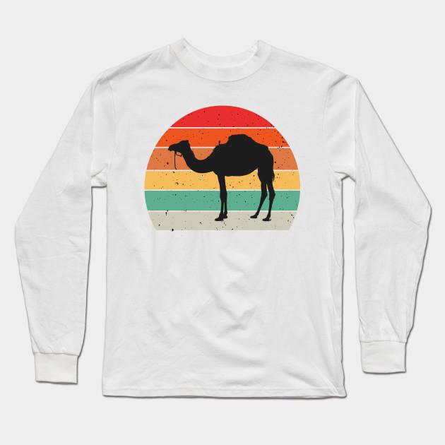 Kamel schl/äft Schlummer Schlafanzug Oberteil Geschenk Kamel Langarmshirt