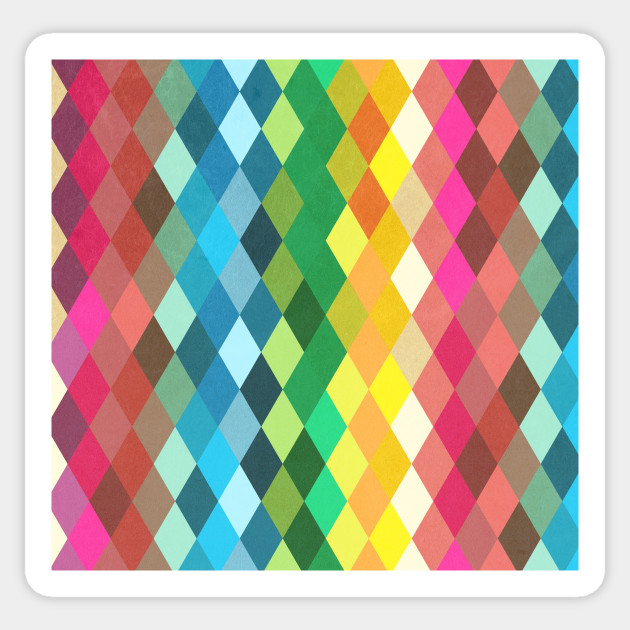 Diamond Color Spectrum Pattern
