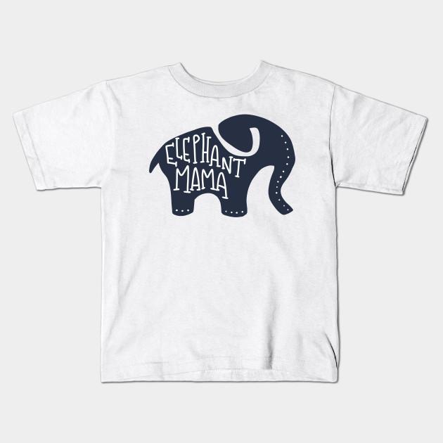 063c1f993 Elephant Mama Safari Animal Mom - Elephant - Kids T-Shirt