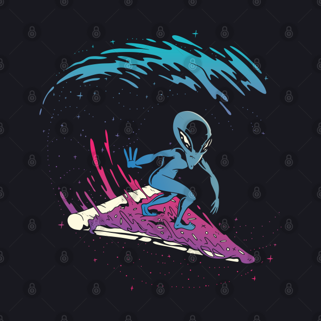 Space Surf on Pizza