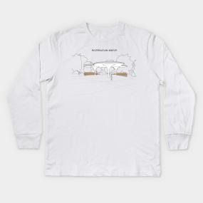 82837ca30e12c Architecture Sketch Kids Long Sleeve T-Shirts | TeePublic
