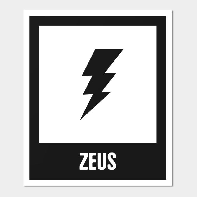 Zeus Greek Mythology God Symbol Greek Mythology Wall Art