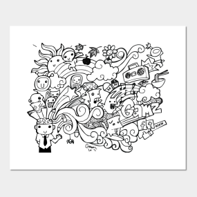doodle posters and art