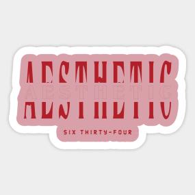 Aesthetic Stickers | TeePublic
