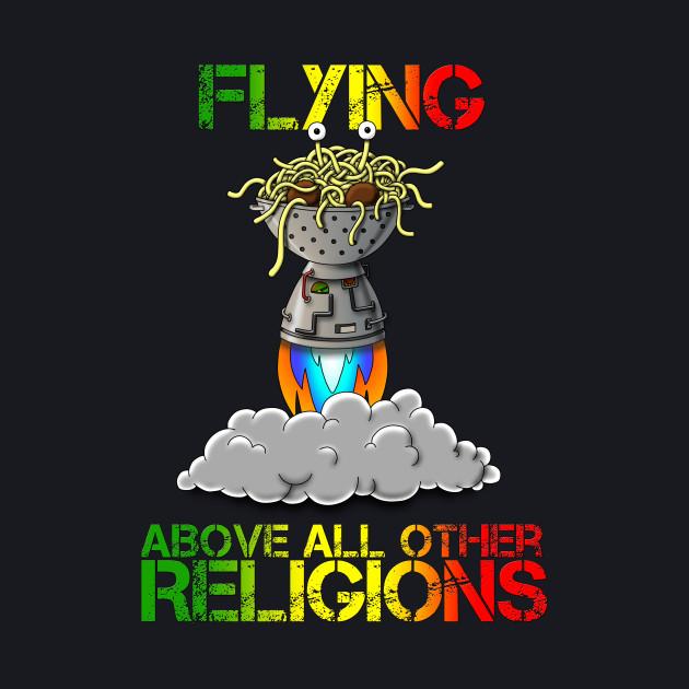 FSM Flying Spaghetti Monster Flying Above All Other Religions