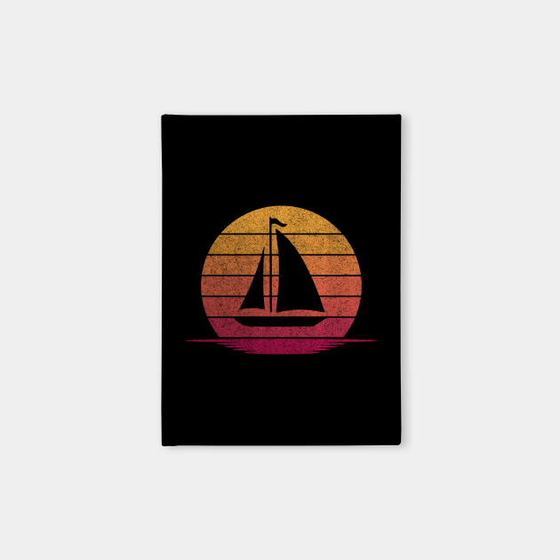 Awesome Funny Sailing Gift - Hobby Silhouette Sunset Design