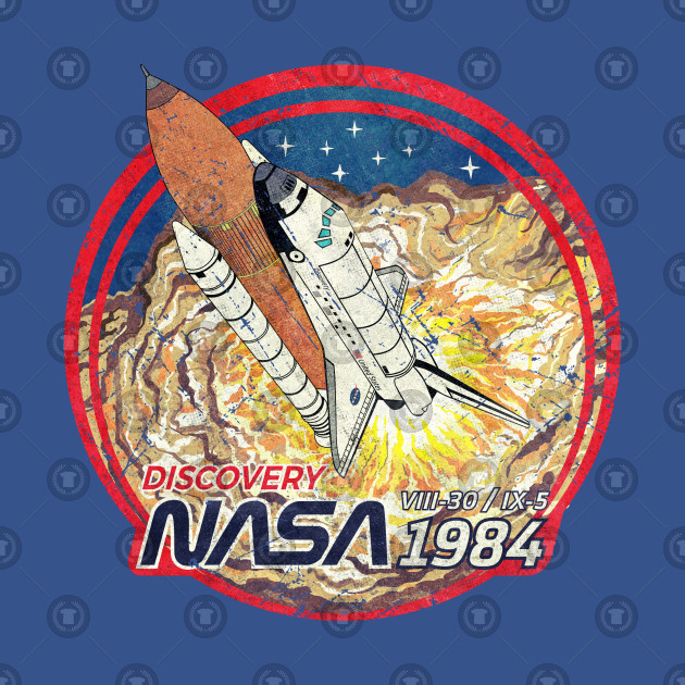 Nasa Discovery Launching Vintage Emblem