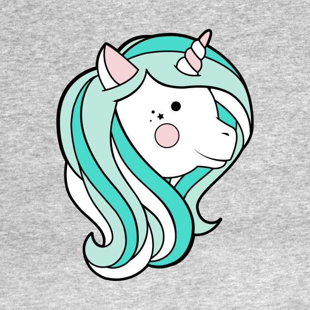 Kawaii Unicorn - Mint