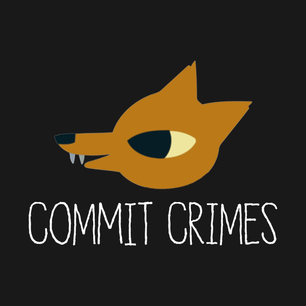 Night In The Woods - Commit Crimes - White Clean