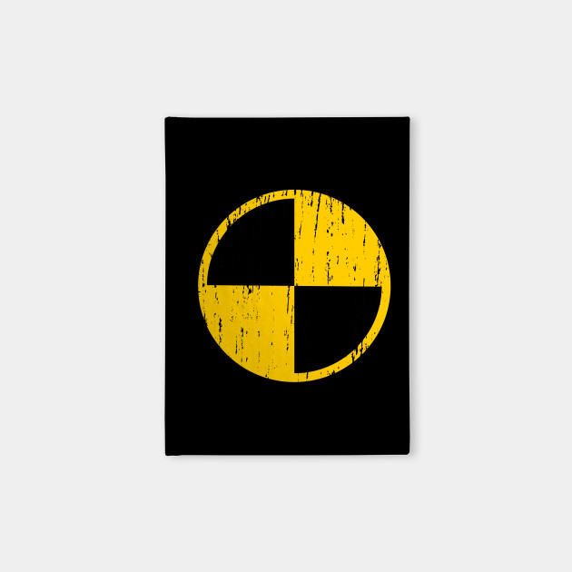 Crash Test Dummy Logo Distressed Crash Test Dummy Notebook
