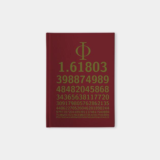 1618 Phi Golden Ratio Symbol Math Lovers Phi Ratio Notebook