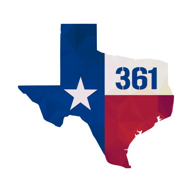 Texas USA Area Code Texas TShirt TeePublic - 361 area code