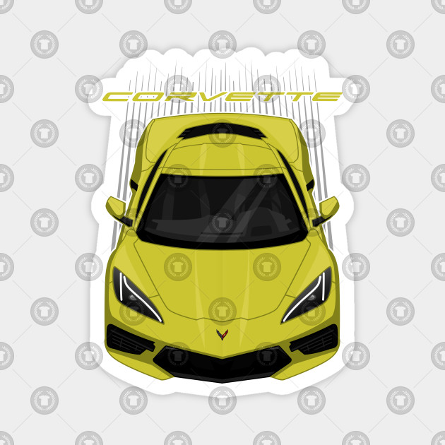 Chevrolet Corvette C8 2020 Accelerate Yellow Poster Corvette Gift New Corvette