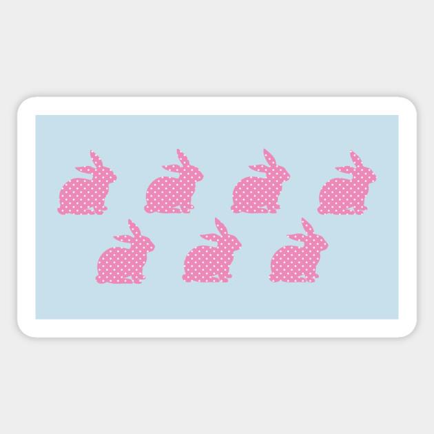 Pink Bunny Wallpaper Sticker