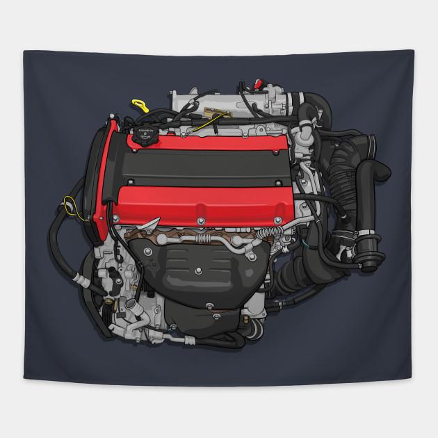 mitsubishi 4g63 engine diagram 4g63 engine sticker mitsubishi tapestry teepublic  4g63 engine sticker mitsubishi