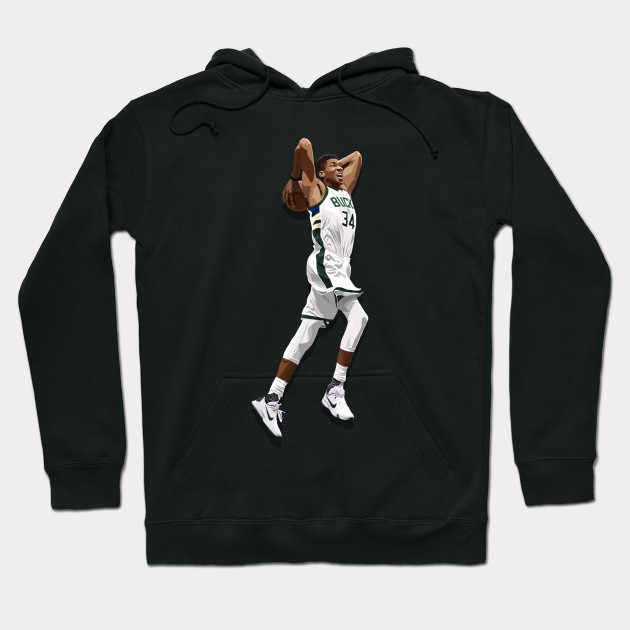 Giannis Antetokounmpo Dunking Cartoon