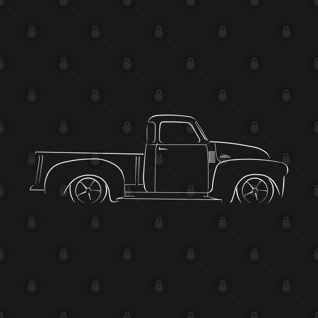 Chevy 3100 Pickup - profile Stencil, white