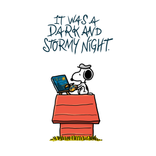 It was a dark and stormy night t-shirts