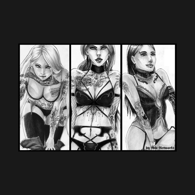 Tattoo Girl Triple